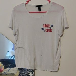 Forever 21 love club t-shirt